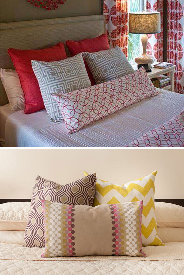 Bright #pillows for #smallbedroom
