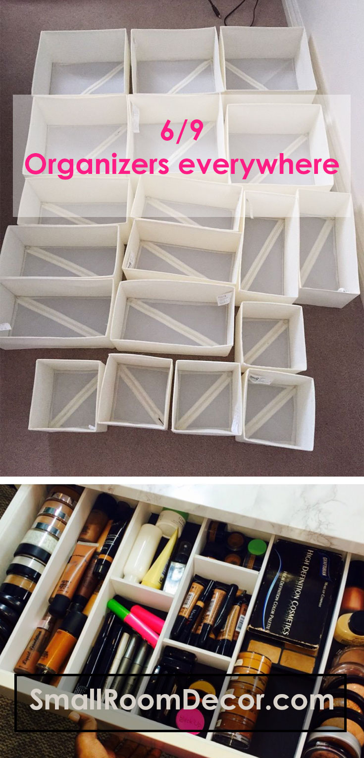 #Organizers for #smallbedroom