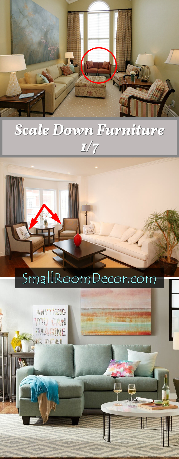 Scale down furniture #livingroomfurniture