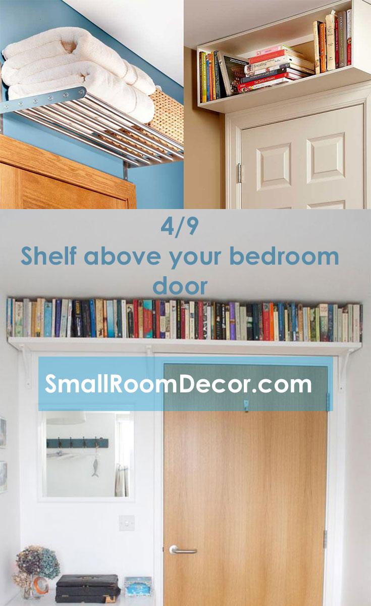 #Shelf above your #bedroom door