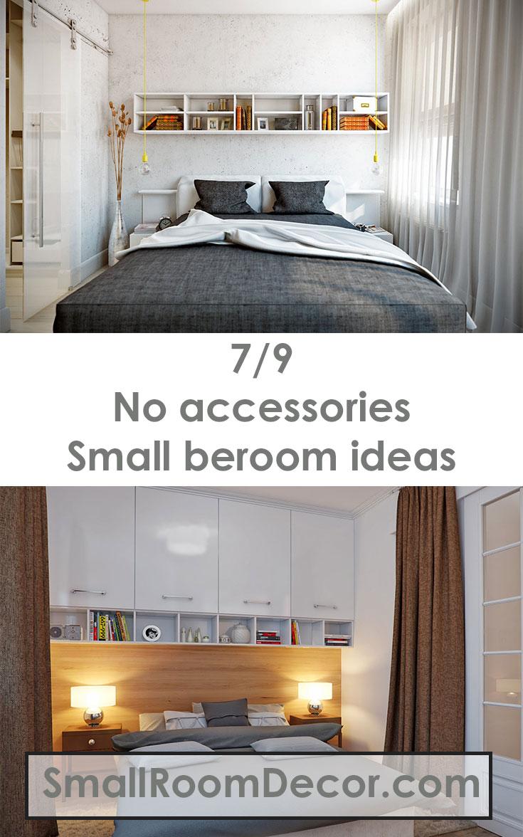 #Smallbedroomideas no accessories