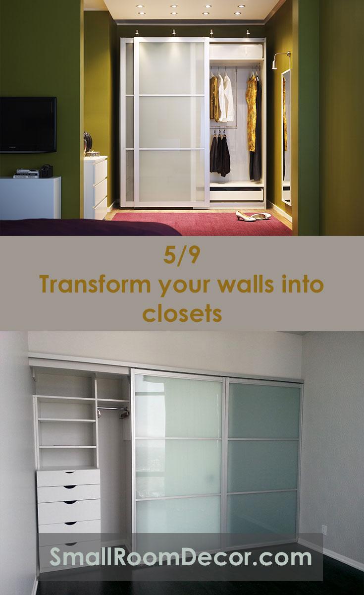 Transform your walls into #closets