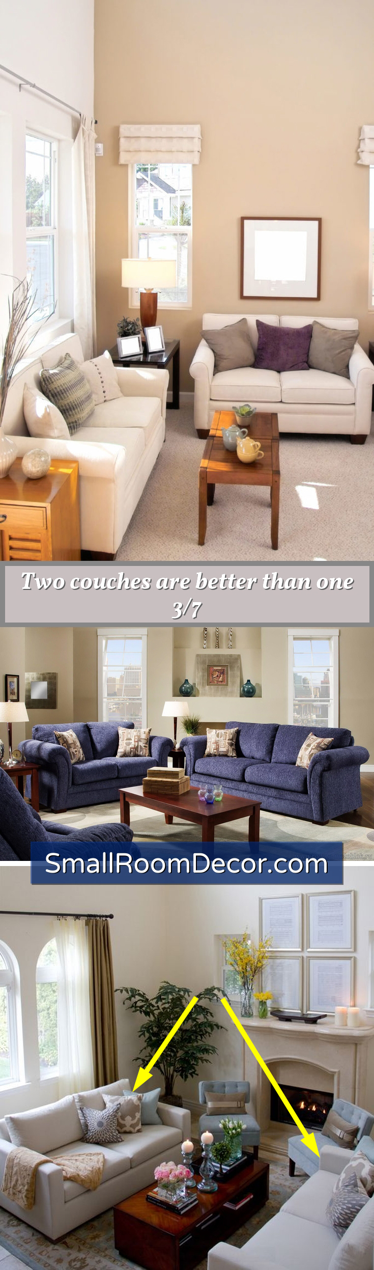 Two #sofas in small living room