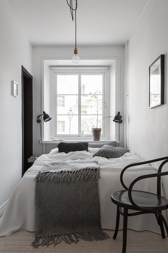 Very small #whitebedroom