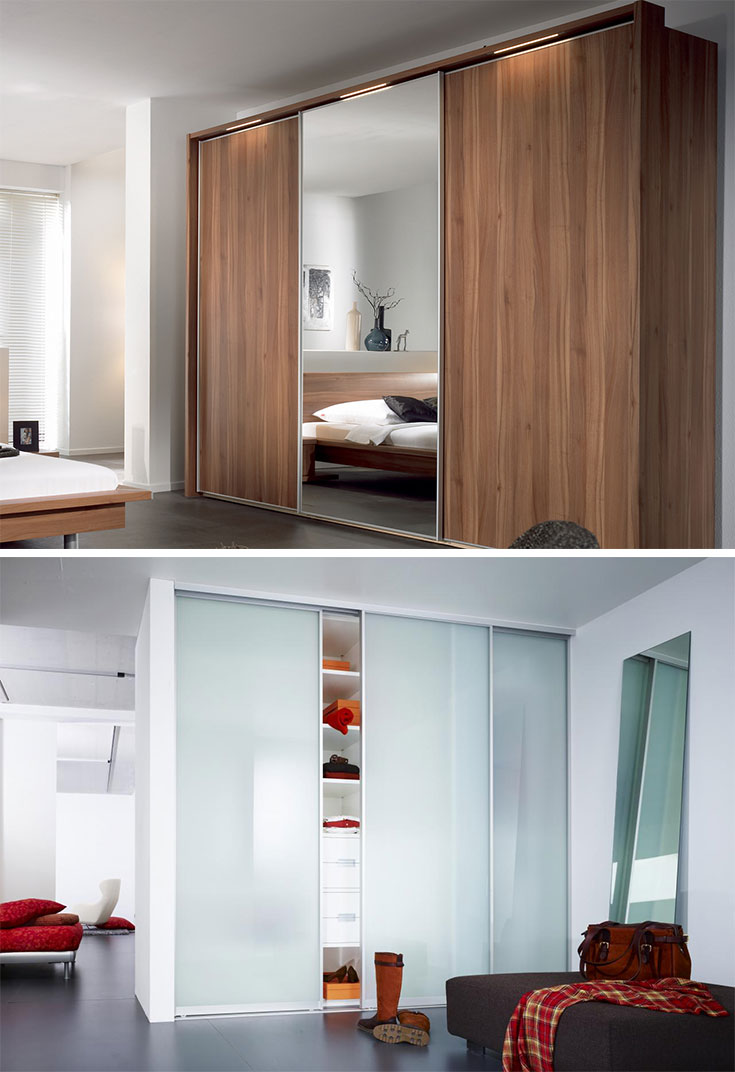 Whole wall #closets for #smallbedroom
