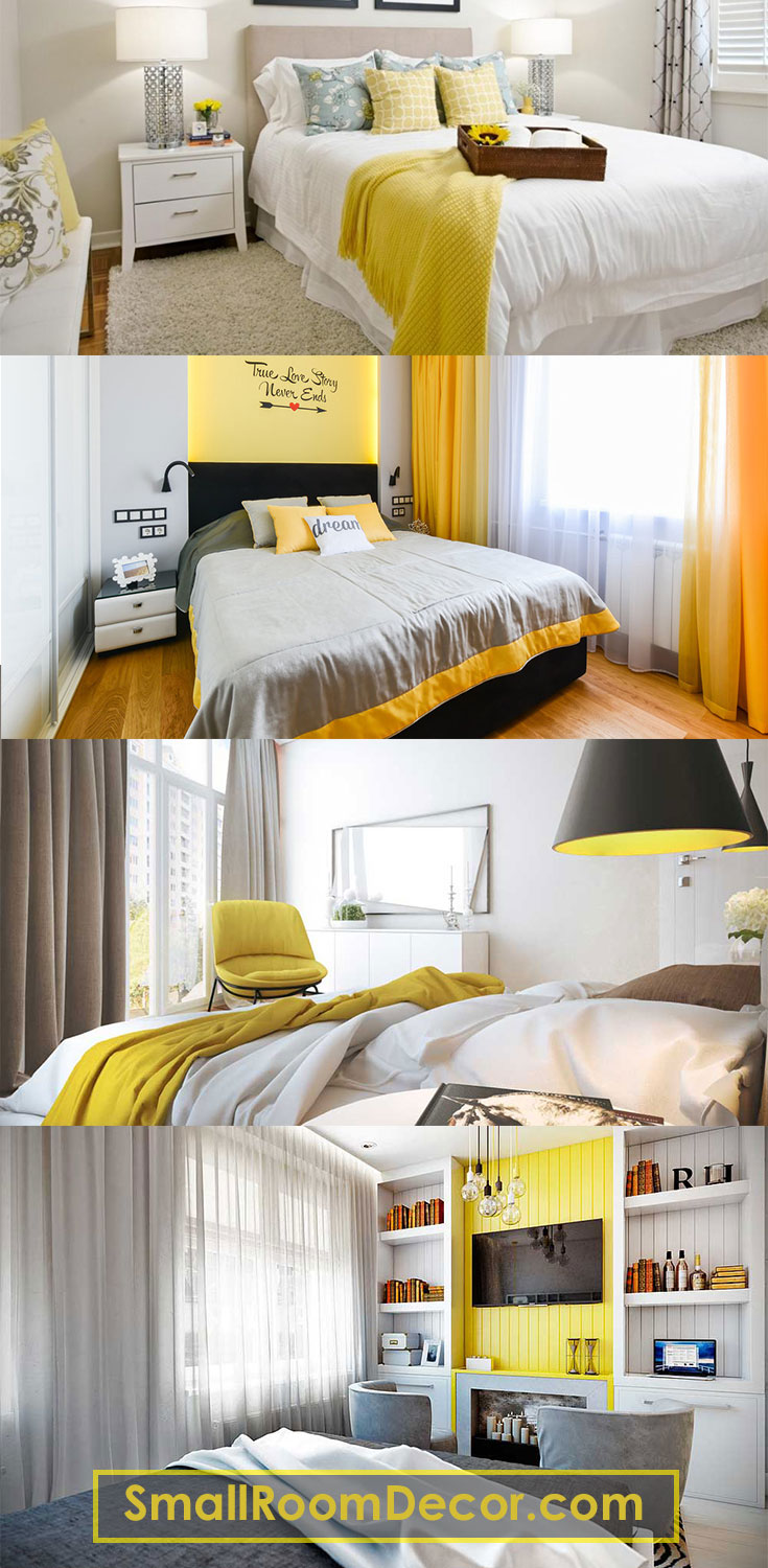 #Yellow small #bedroomideas