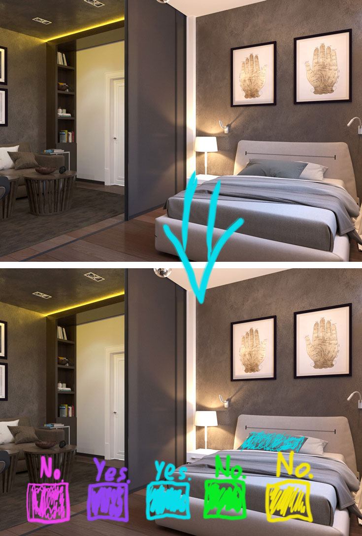 Accent color combinations for small brown bedroom #bedroomdesign