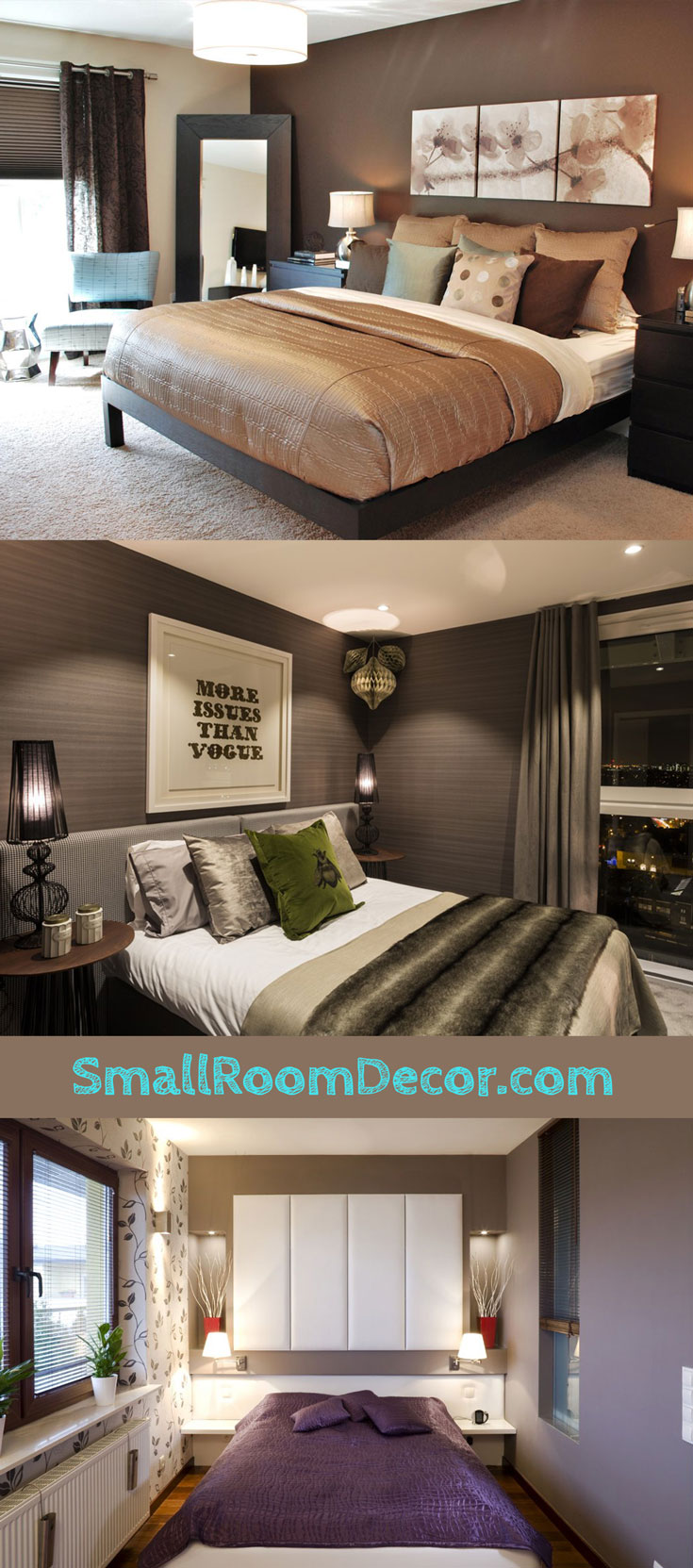 #brown turquoise #smallbedroom wall color