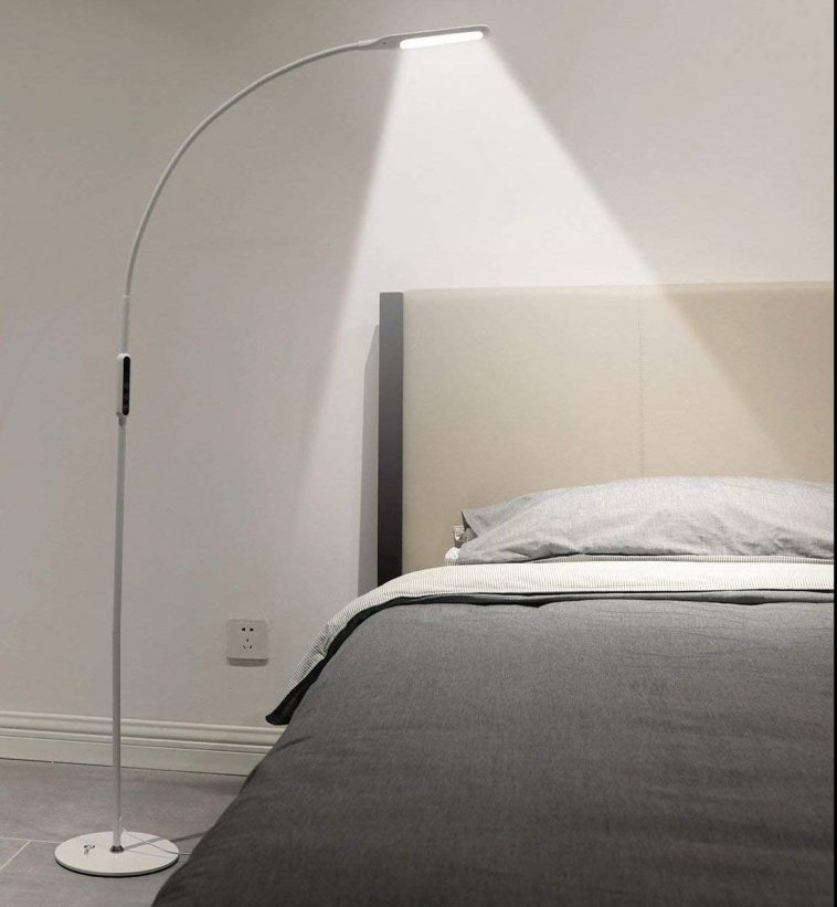 Flexible Gooseneck Light with Touch and Remote Control #bedroomlighting