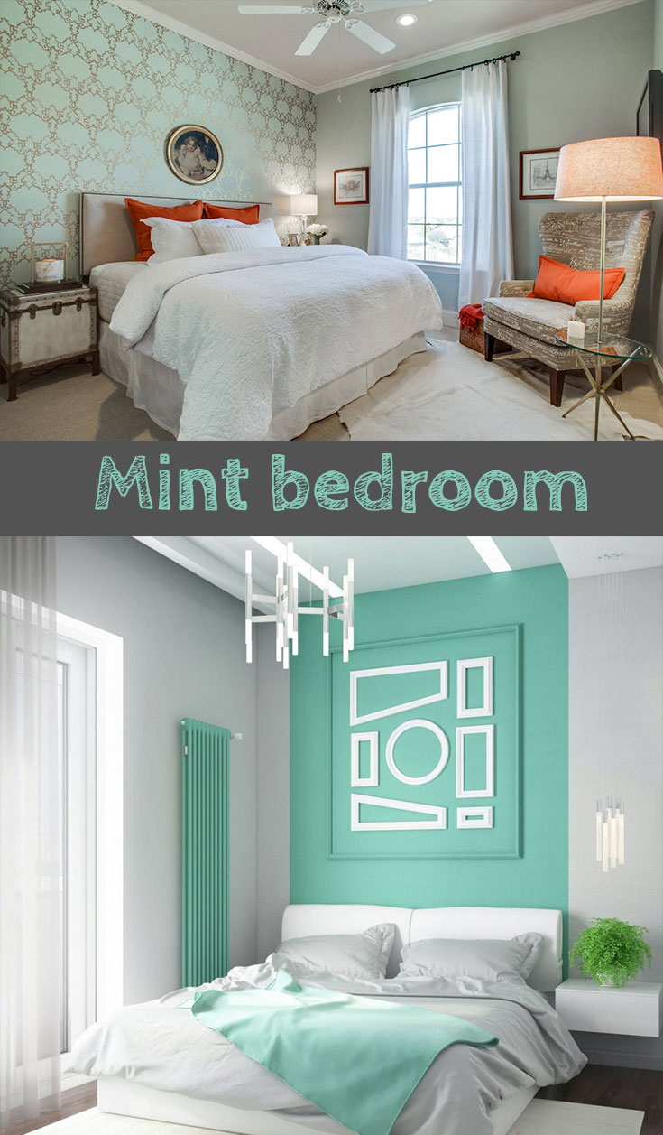 #mint bedroom wall color idea #smallbedrooms