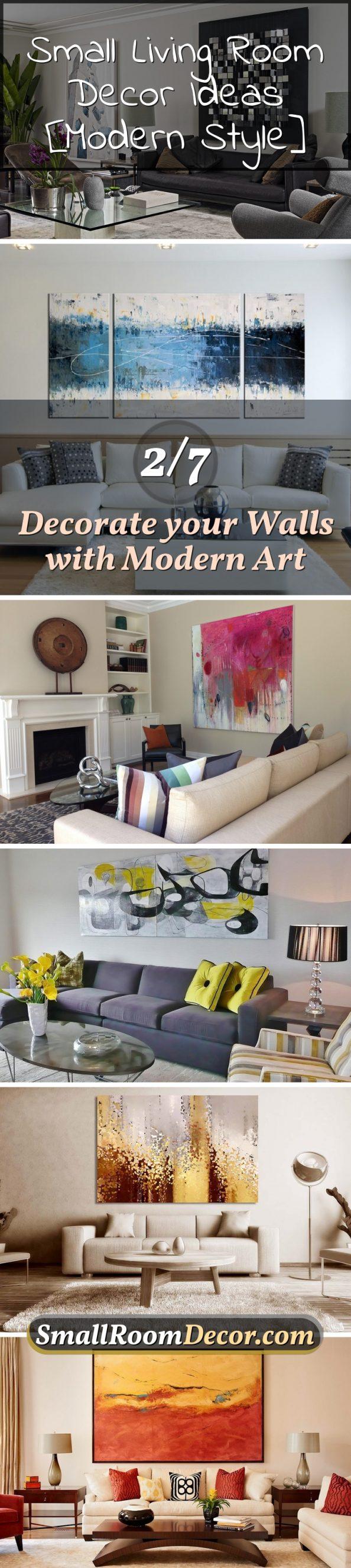 Modern art walls #livingroomwalldecor