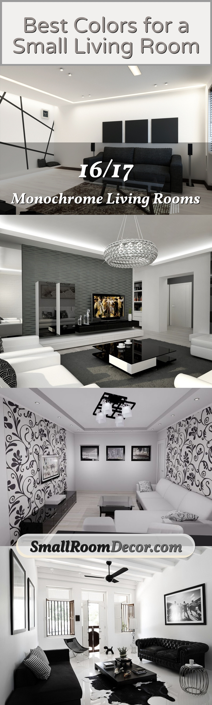 Monochrome living rooms #livingroomcolors