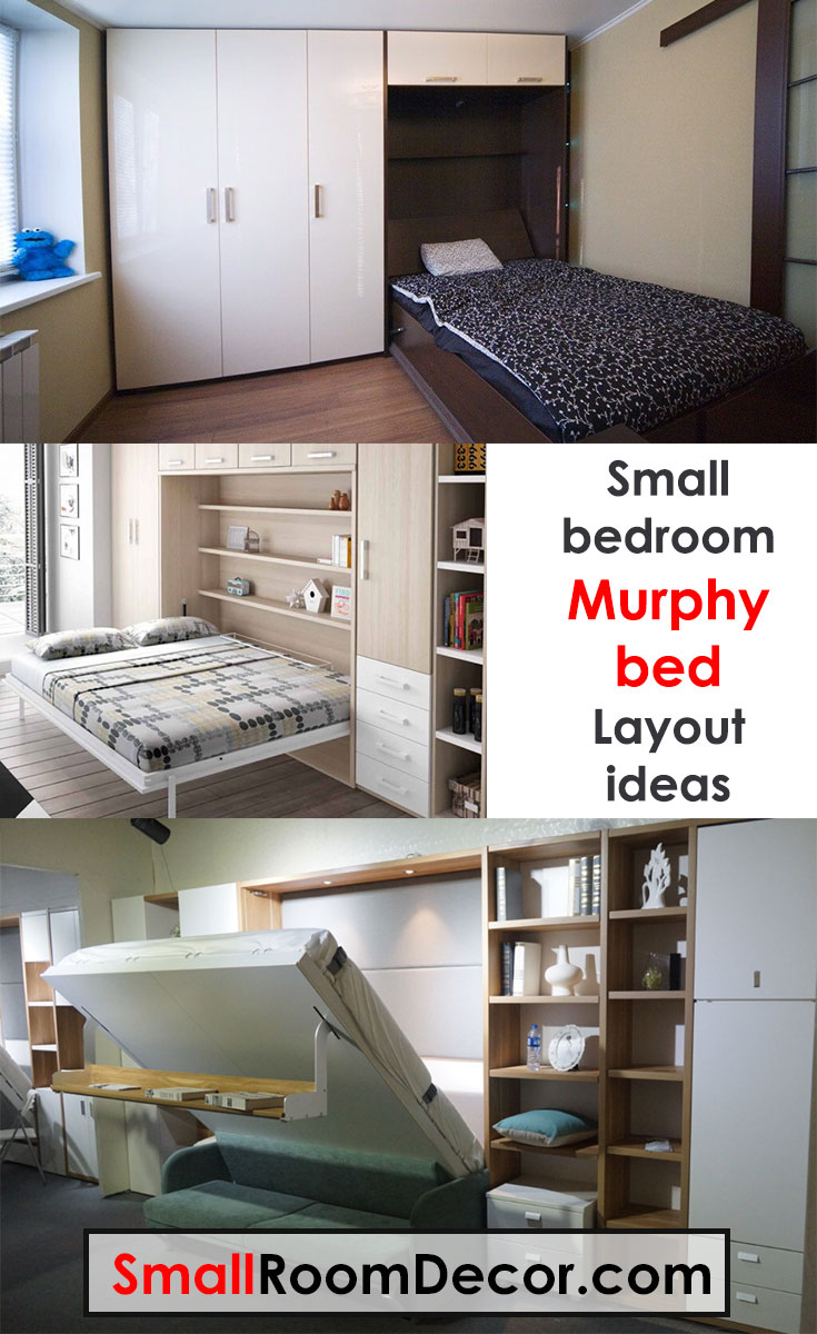 #murphybed as an idea for small bedroom arrangement #layout