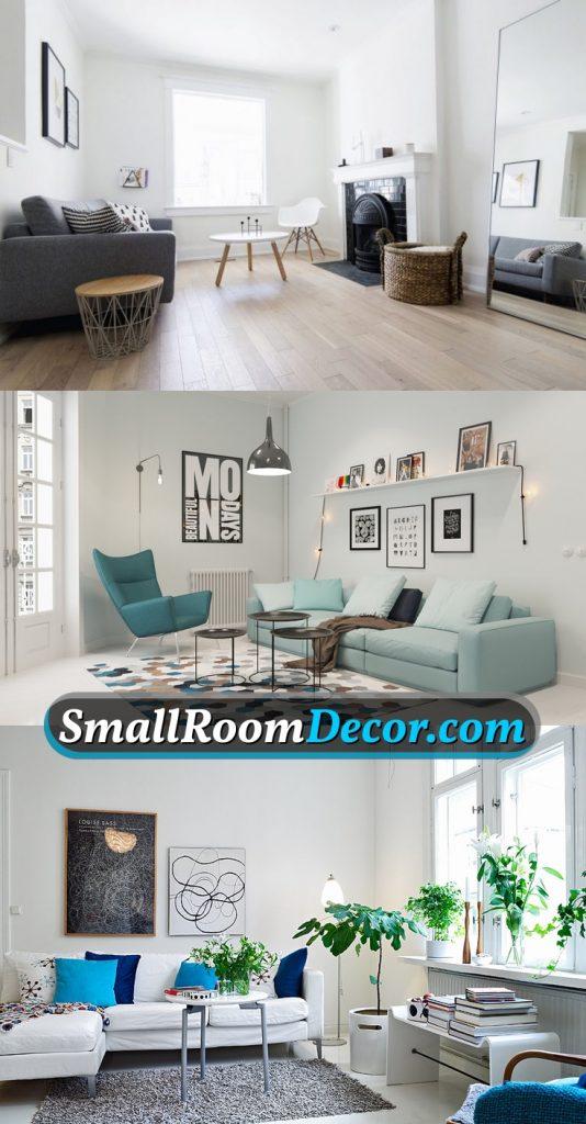 Scandinavian style in blue #livingroominspiration