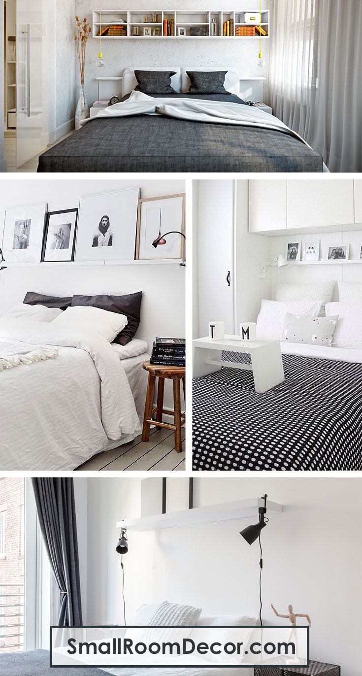 #smallbedroomdecor with white #shelving