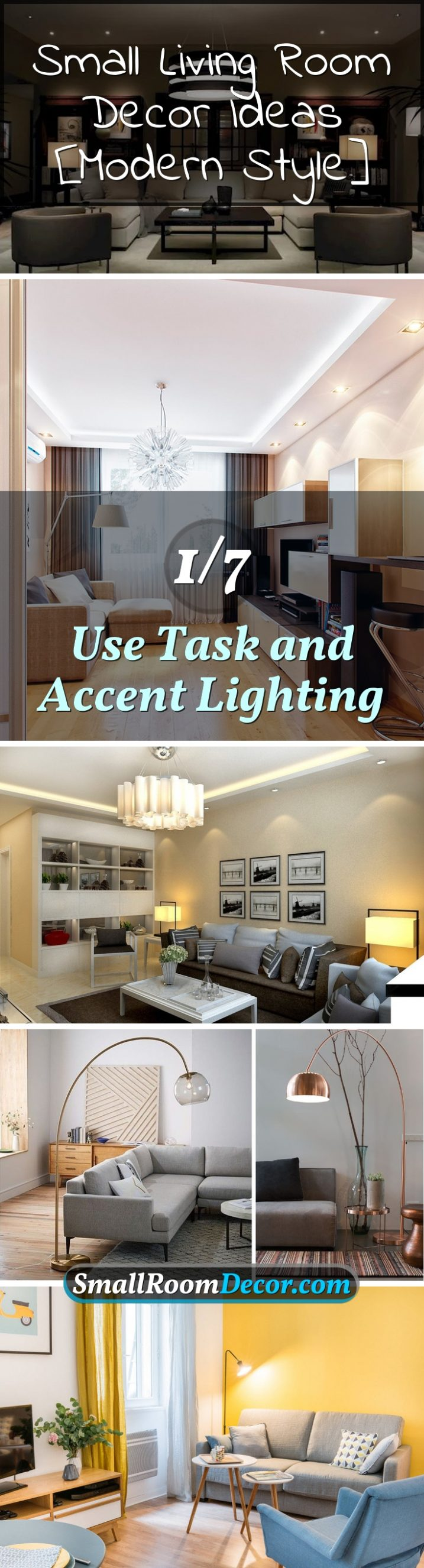 Task and accent lighting #livingroomlighting