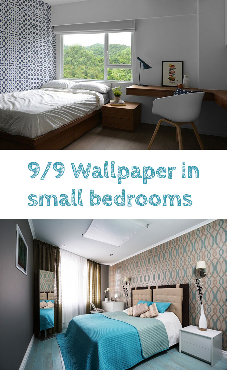 Wallpaper #design in #smallbedroom