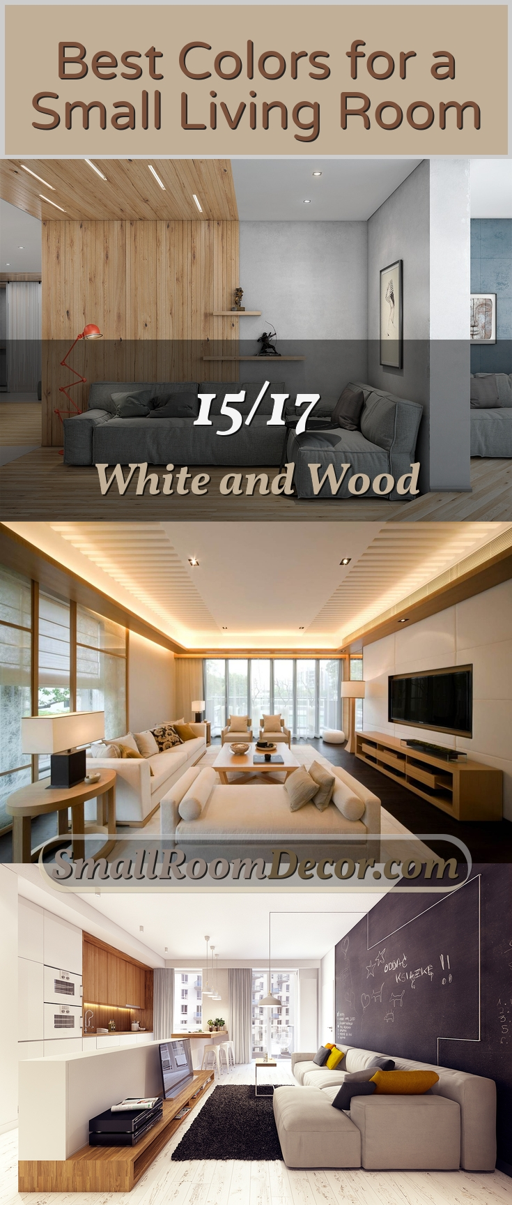 White and wood #livingroom