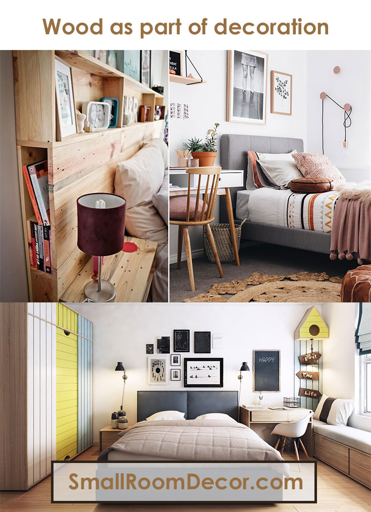 #wood as part of decoration #bedroominterior
