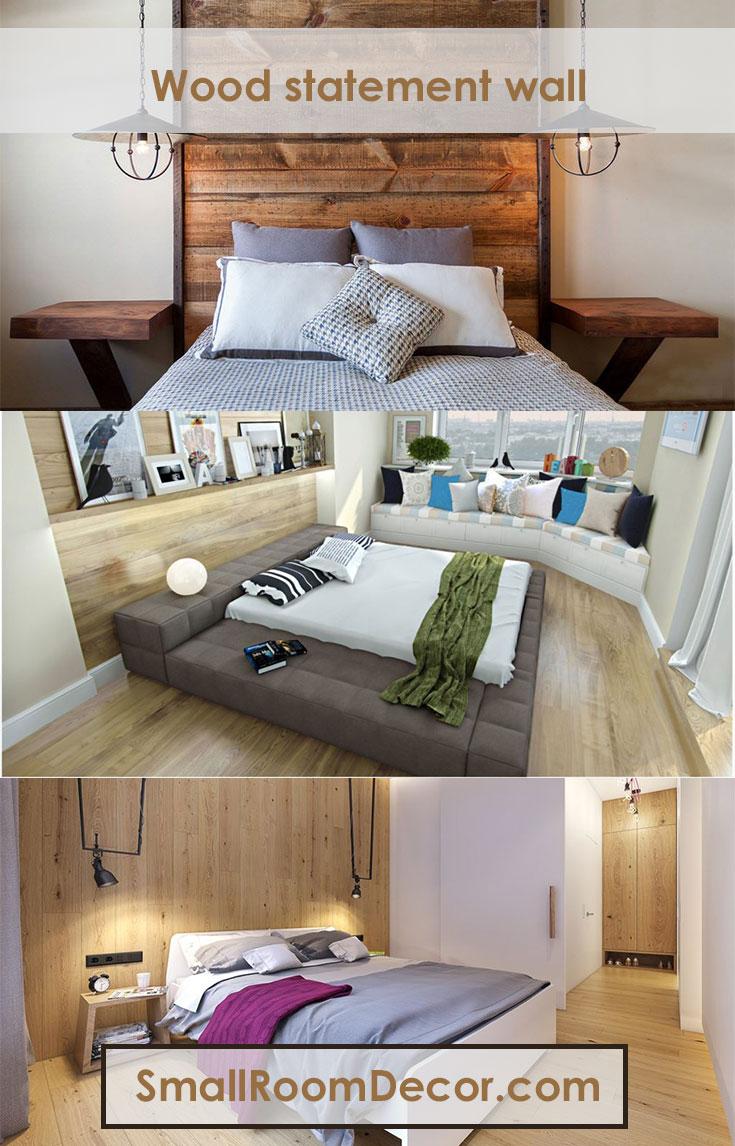 Wood statement wall #bedroominterior