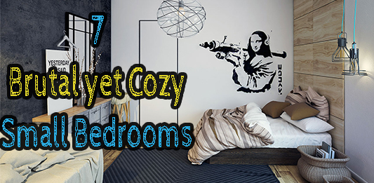 Brutal yet cozy small bedroom design ideas #smallbedroom #modernbedroom