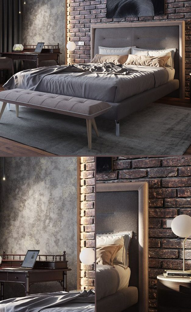 industrial bedroom decor lighting ideas #smallbedrooms #bedroomideas #luxurydesign
