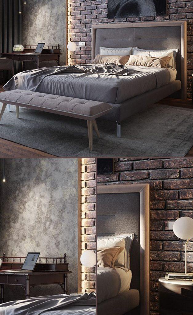 industrial bedroom decor lighting ideas #smallbedrooms #bedroomideas #luxurydesign