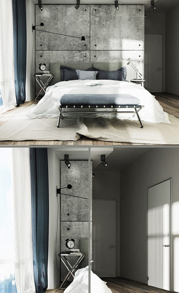 industrial modern bedroom interior design #smallbedrooms #interiordecorating #bedroomdecorideas