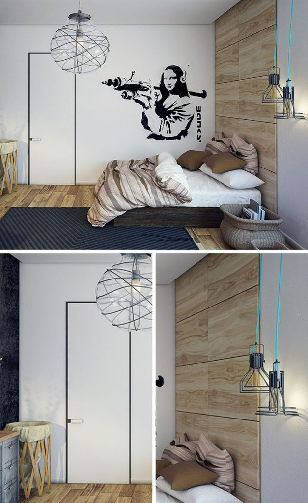 white grey industrial bedroom furniture #homestyle #bedroomideas #bedroomwalldecor