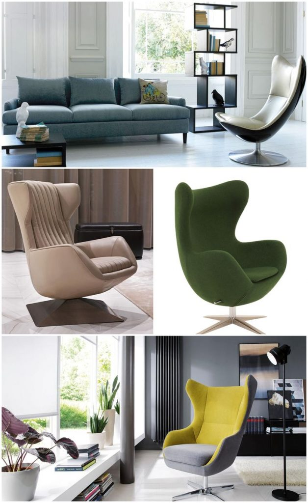 Green and yellow egg chairs #chair #livingroomchairs #furnitureideaslivingroom