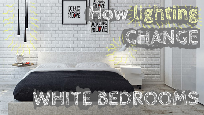 Lighting ideas for small white bedroom