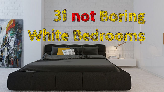 Not boring white bedrooms #designing #whitebedroom #smallbedroom
