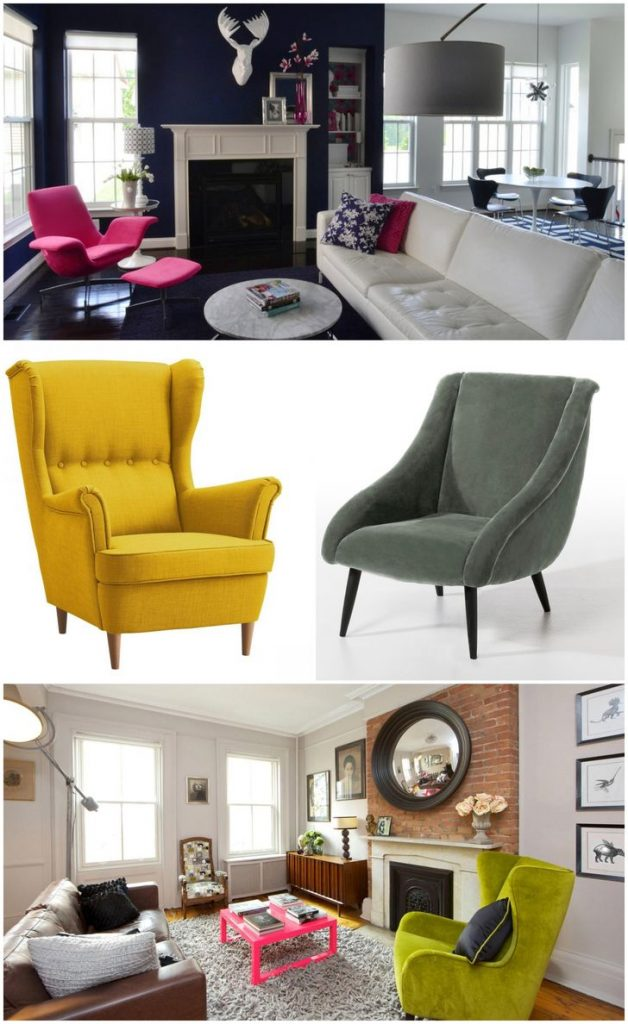modern microfiber accent chairs #chair #livingroomchairs #livingroomlayout