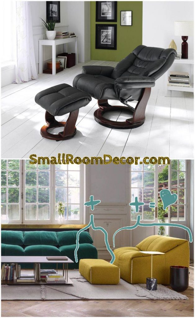 oversized living room chair with ottoman #ottoman #livingroomchairs #livingroommodern