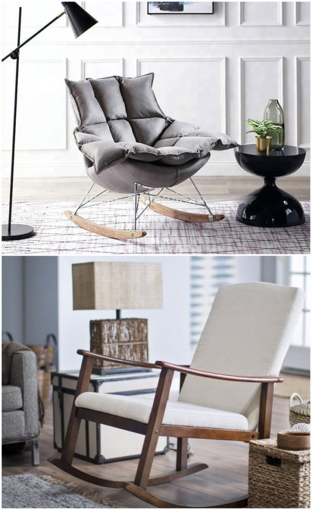 rocking chair in living room #rockingchair #chairs #livingroommodern