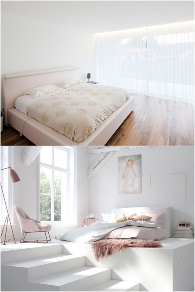 white bedroom decorating ideas #smallbedroomideas #designfurniture #lightingideas