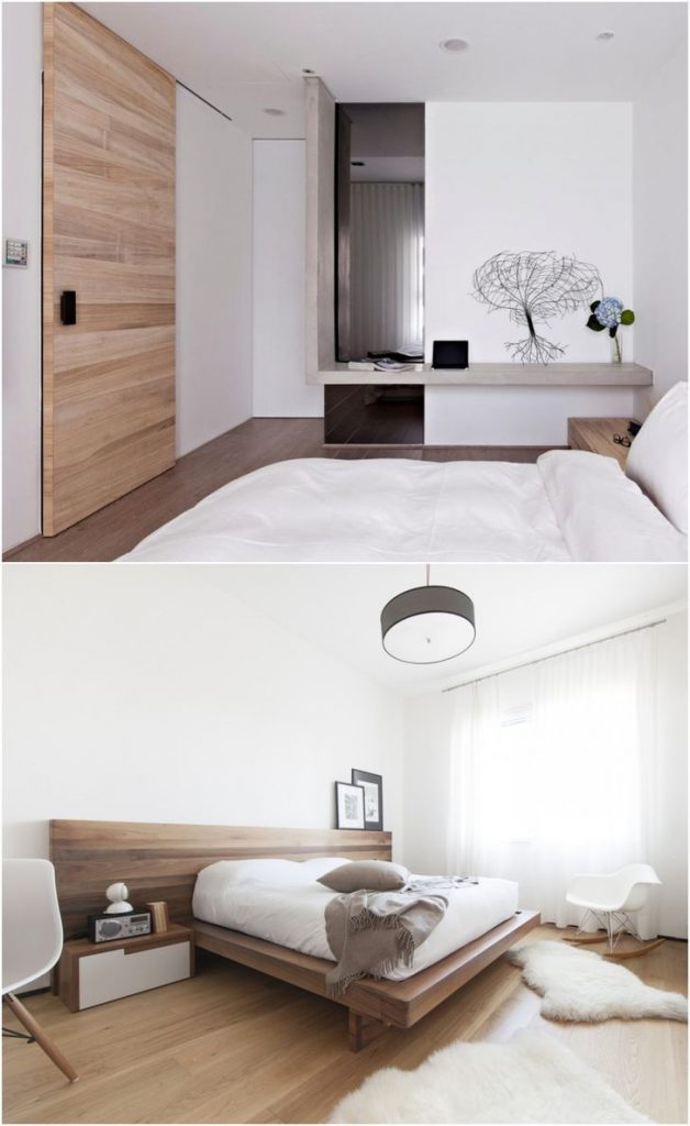 white bedroom hardwood floors #walllights #smallbedroomideas #diyinteriordesign