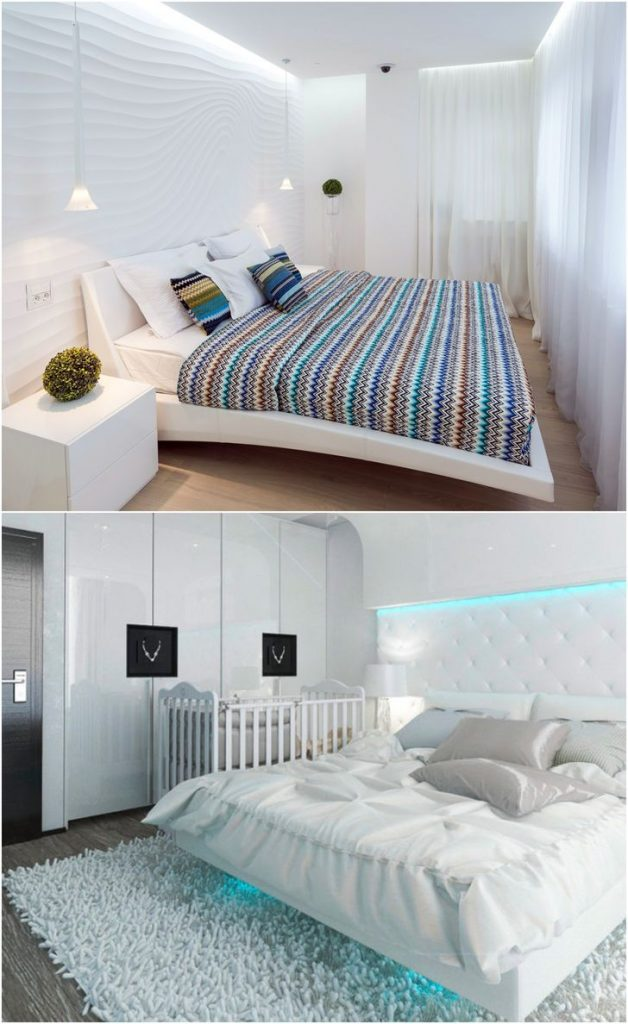white bedroom modern furniture #lightingdesign #walllights #diyinteriordesign