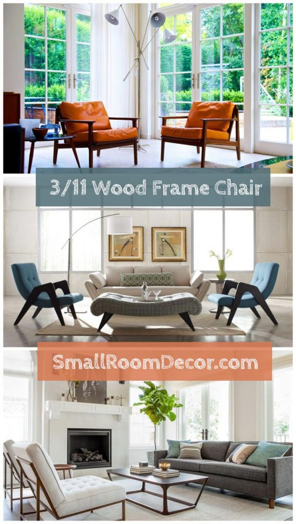 wood frame chair with cushions #chairs #accentchairs livingroom